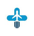 Vacation Travel Plane Healthy logo icon vector image