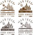 vintage labels set of urban whiskey vector image