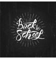 Back to school on blackboard- labels stickers vector image