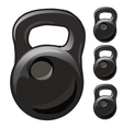 Heavy cast iron weight on white background vector image