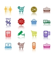 supermarket services pictograms vector image vector image