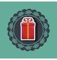 gift present box ribbon vector image