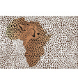 Abstract background of the African cheetah vector image