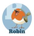 abc cartoon robin vector image