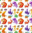 Seamless sea animals vector image vector image