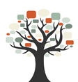 tree with speech bubbles vector image vector image