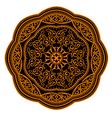 ornamental circle pattern vector image vector image