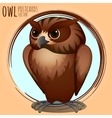 Strict brown owl cartoon series vector image