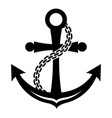 anchor icon simple style vector image