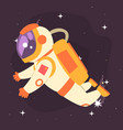 astronaut floating in outer space vector image