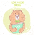 bear and book vector image