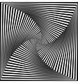 Black and White Opt Art Background vector image