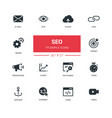 business concept seo - line design icons set vector image