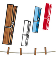 clothespin and rope vector image