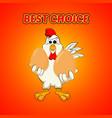 funny cock keeps eggs vector image