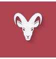 Goat head symbol vector image