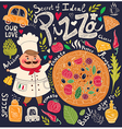 Pizza design menu vector image