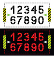 set of numbers in classic stencil printing style vector image