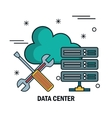 support cloud data center isolated vector image