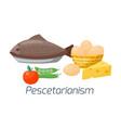 vegetarian food diet types vector image