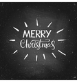 Merry Christmas - greeting quote on chalkboard vector image