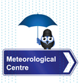 METEOROLOGICAL CENTRE SIGN vector image vector image