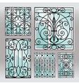 Set of iron window latticies vector image