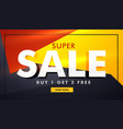colorful sale banner template with geometric vector image