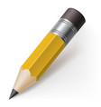 realistic pencil icon on white background vector image vector image