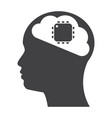 artificial intelligence icon vector image vector image