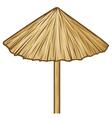 straw umbrella vector image