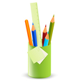 pencils in the stand vector image vector image