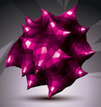 Abstract asymmetric purple object constructed from vector image