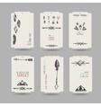 Collection of tribal vinatge hang tags vector image