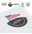 American gun shop set Firearms store Hunting gun vector image