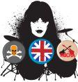 British rocker vector image
