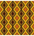 ethnic tribal seamless pattern in yellow and vector image