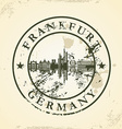 Grunge rubber stamp with Frankfurt Germany vector image