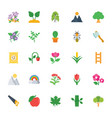 nature and ecology flat colored icons 3 vector image
