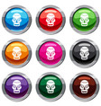 skull set 9 collection vector image