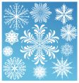snowflake design collection vector image
