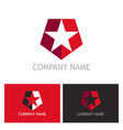 star shield company logo vector image