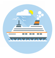 Digital with ocean ship boat icon vector image