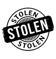 Stolen rubber stamp vector image