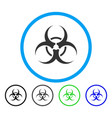 biohazard symbol rounded icon vector image