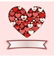 Abstract Heart with empty Banner vector image