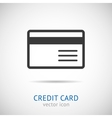 credit card logo vector image