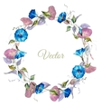 Floral watercolor frame vector image vector image