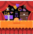 Theatre Life Concept Background vector image