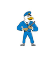 Bald Eagle Policeman Baton Cartoon vector image